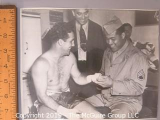 Collection of large format B&W boxing photos including Joe Lewis, Dick Tiger, Joey Archer and Nino Benvenuti