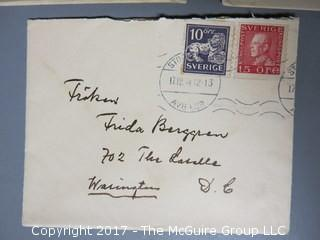 Collection of foreign postage stamped envelopes