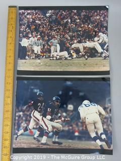 (2) Large format B&W sports photos featuring Gayle Sayers and Dick Butkis