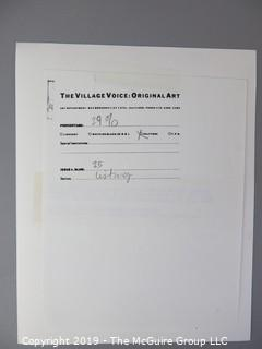Collection of Large Format B&W photos including original art of The Village Voice