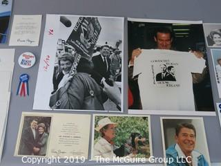 Large Format B&W photos of Ronald and Nancy Reagan, and other Presidential memorabilia