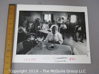 Collection of Large Format B&W photos; Daily Life in America for the Elderly; circa 1981