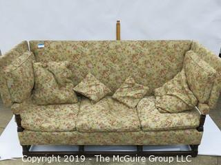 Upholstered Italian Sofa with reclining Sides; 78W x 33D x 40T