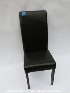 (6) Faux Leather Side Chairs, 1 showing some wear (only 2 shown in photo)