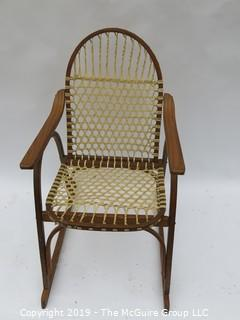 """Bentwood Armchair with Woven Rawhide Seat and Back; 22W x 36T x 30D"""""""