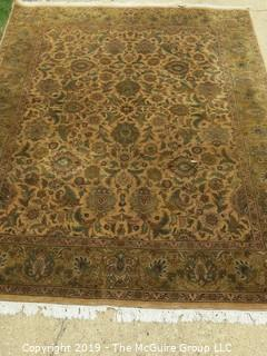 Large 96 x 126 Handwoven Rug. Very good condition, good fringes.