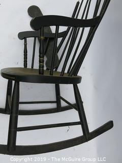 "Boston Rocker (all parts appear to be are there for rejoining); 22S x 19W x 42""T"