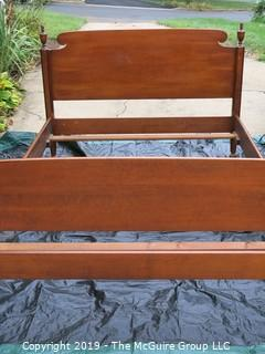 Bedframe; mattress dimensions 54W x 78T; outside dimensions are 56 x 80