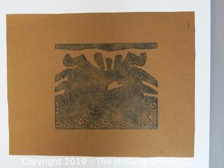 """Inuit Art on Paperl 8 1/2 x 11""""; unsigned"""