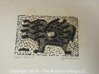 "Inuit Art on Paper; 8 1/2 x 11""; titled and signed"