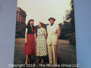 Large Format Color Photo of Journalist Joseph Alsop and Family