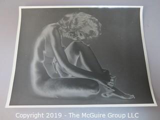 "8 x 10"" B&W art photo of nude woman"