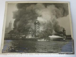 8 x 10 B&W photo; circa 1914; Grand Truck Dock Fire; Seattle