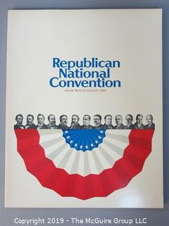 Republican National Convention Official Program; Miami Beach, 1968