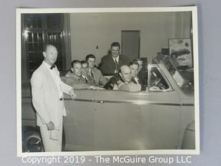 B&W photos of the Johnson-Jones Ford Dealership Staff. circa 1946