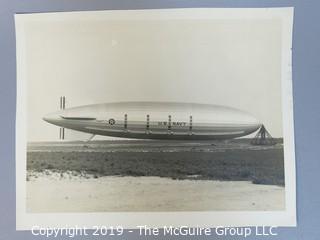 1930 U.S. Navy Blimp B&W Photo