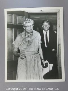 8 x 10 B&W Photo of President John F. Kennedy with Eleanor Roosevelt