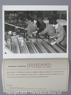 "8 x 10"" B&W photos including aircraft manufacturing by Boeing and General Dynamics"