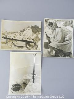"Collection of 8 x 10"" B&W Photos of WWII German Alpine Soldiers"