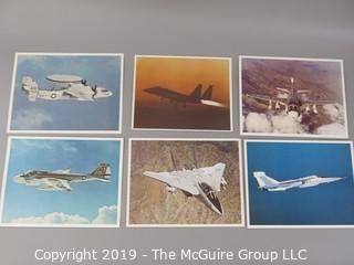 "Collection of 8 x 10"" Color Photos of Aircraft and Specs by McDonnell-Douglas and Grumman"