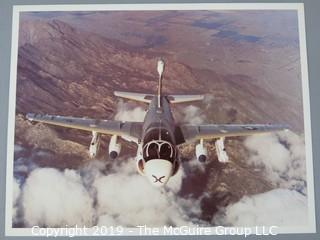 """Collection of 8 x 10"""" Color Photos of Aircraft and Specs by McDonnell-Douglas and Grumman"""