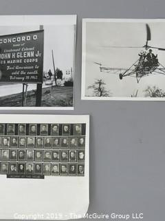 "Collection of Photos including John McCain's Annapolis Yearbook Picture and 1941 8 x 10 "" B&W Photo of Igor Sikorsky's world record Helicopter Flight"