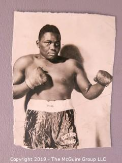 "Collection of Photos and Articles about Boxer ""Big Boy Brown"", cousin of Joe Lewis"