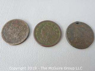 (3) Large U.S. Cents: 1854, 1829 and 1862
