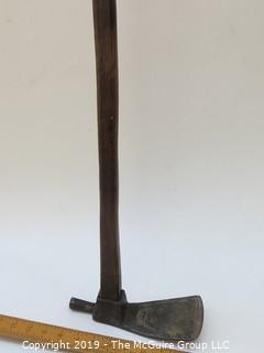 Antique Wood/Iron Carpenter's Adze; marked on base
