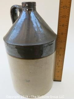 Handled Earthenware Salt Glazed Crock
