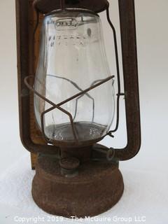 """Kerosene Lantern; marked """"Dirtz: Pritzall, KY USA"""""""