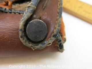 Baseball Glove, circa 1940's; markings on leather