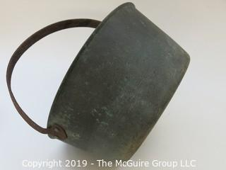 Copper Coated Hand Forged Iron Kettle with handle