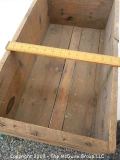 """Wooden Crate marked: """"McKinney Hinges and Butts"""""""