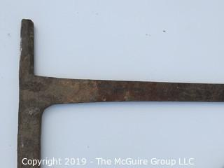 Large Hand Forged Open Hearth Cooking Bracket