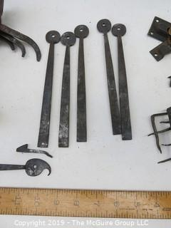 Reclaimed hand forged hardware, including nails