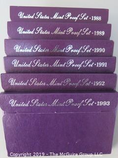 NIB; U.S. Mint Proof Sets; 1988-1993