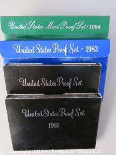 U.S. Proof Set; 1981, 1982, 1983; U.S. Mint Proof Set; 1984