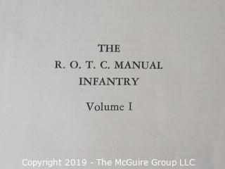 R.O.T.C. Textbooks;  Vol. I and II; 1940