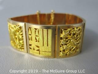 18k Yellow Gold Ladies Bracelet; 69g