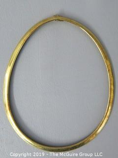 18k yellow gold Necklace; 65g