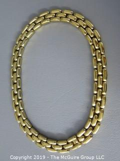 "Ciner 16 1/2"" Ladies Tri-Strand Gold Toned Necklace"