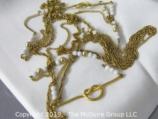 Collection of Costume Jewelry including Necklaces and Earrings