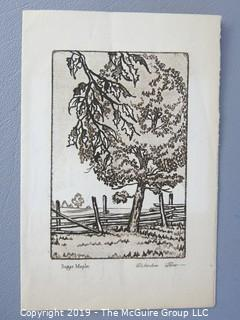 Collection of ephemera including engraved cards