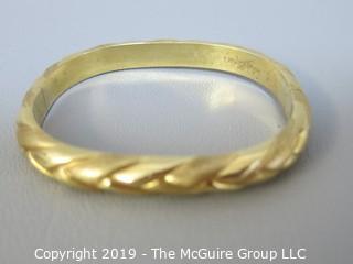 "14k Gold Bracelet; 14g; inside dimensions 1 7/8"" x 2 1/4"""