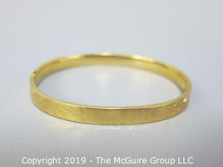 Jewelry: 14k Gold Bracelet; 7g; dimensions 2 x 2 1/4""