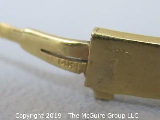 """Jewelry: 14k Gold Bracelet; 7g; dimensions 2 x 2 1/4"""""""