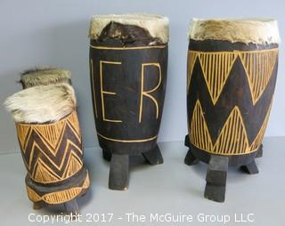 Collection of African drums