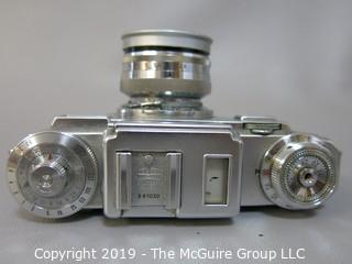 Zeiss Ikon Contax III 35mm Film Camera with two Carl Zeiss Lenses; Sonnar 1:1.5 f=50 mm; and Triotar 1:4 F-8.5cm and Steinheil mulit-turret viewfinder