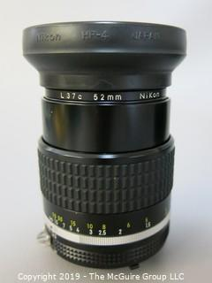 Nikkor 105mm; f2.5; with L37c Filter and Lens Case
